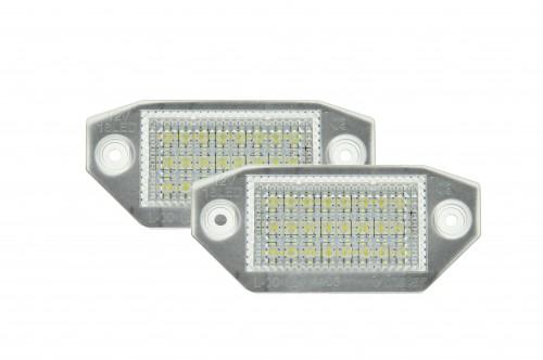 LED Kennzeichen Beleuchtung, Power-LEDs, inkl. E-Prüfzeichen passend für Ford Mondeo MK3 2000-2007 (5 Türer)