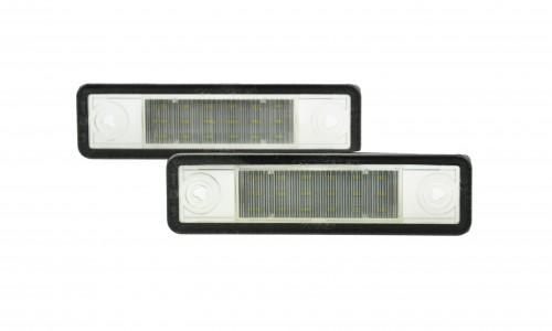 LED Kennzeichen Beleuchtung, Power-LEDs, inkl. E-Prüfzeichen passend für Opel Astra F  91-98 / Astra G (F69) 98-05 / Corsa B 93-00 / Omega A 86-94 / Omega B 94-03 /  Vectra B 95-03/ Zafira A(F15) 99-05 / Signum Combo C 01-06