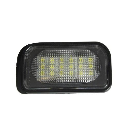 LED Kennzeichenbeleuchtung, 2 St., 3 LEDs, E-Zeichen, kompatibel mit Bordcomputer, mit E-Prüfzeichen passend für Mercedes C-Klasse Limo W203 00-07