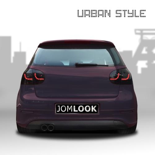 Rückleuchten, Heckleuchten, Urban-Style Two, LED Schwarz passend für VW Golf 5 03-