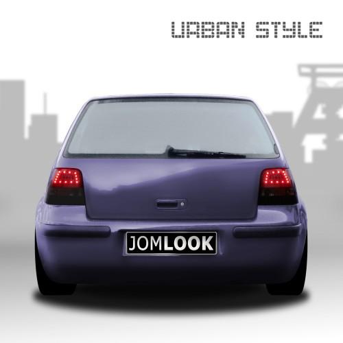 Rückleuchten Urban Style, LED, inkl. LED Bremslicht u. Nebelschlußleuchte, Schwarz/Smoke passend für VW Golf 4 97-03