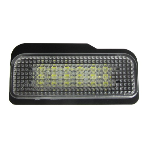 Licence plate LED bulbs, 2 pces, 3 SMD LED, Mercedes E-class sedan/estate W211 00-07, C-class W203 estate 00-07, CLS W219 04-, SLK R171 04-, E-marked, compatible to the board computer