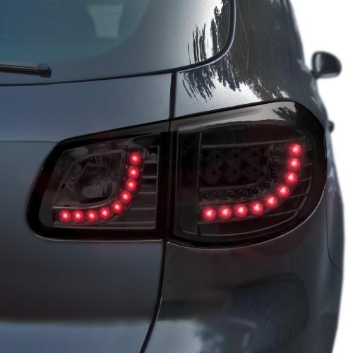 Rückleuchten,Heckleuchten LED, schwarz passend für VW Tiguan, Bj. 07-11