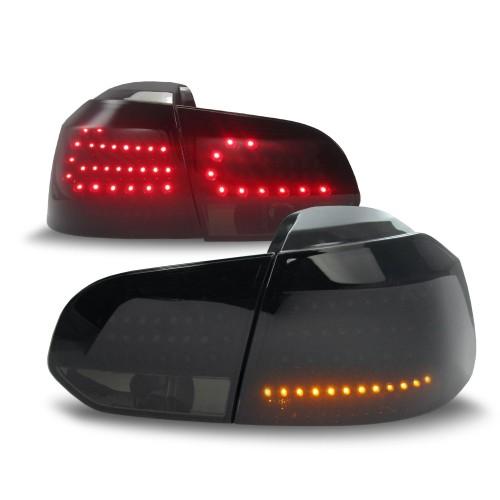 Rückleuchten Urban Style, LED, inkl. LED Blinker und Bremslicht, Schwarz Smoke
