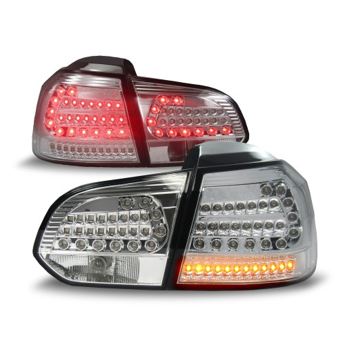 Urban style LED Rear lights chrome suitable for VW Golf 6 year 08-12