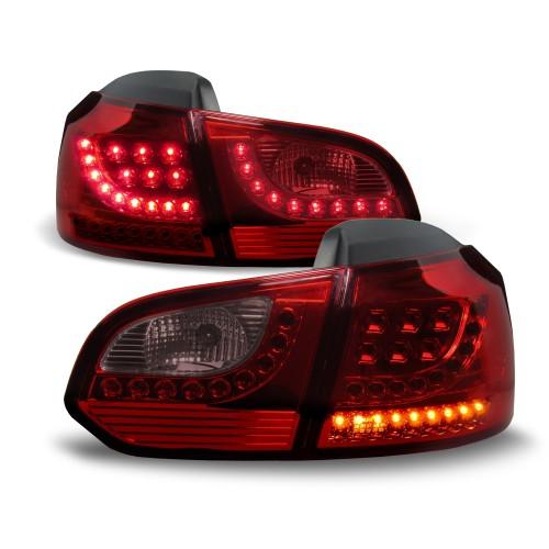 Rückleuchten,Heckleuchten Urban Style LO-Look, , LED, inkl. LED Blinker und Bremslicht,rot, cherry-red passend für VW Golf 6 08-12