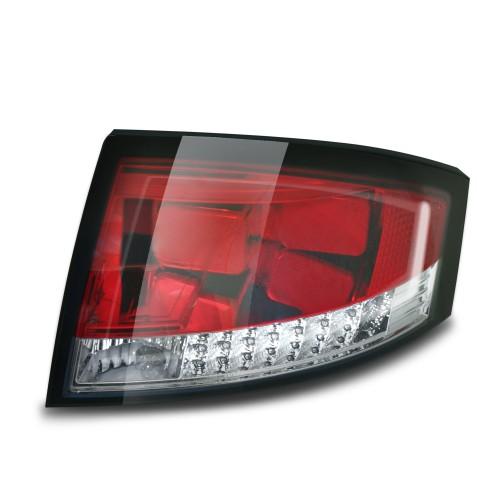 Lightbar Style Rückleuchten mit LED Blinker Klarglas passend für Audi TT 8N Bj. 98-06