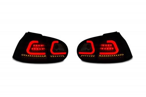 Rückleuchten LED, mit Lightbar, schwarz/smoke passend für VW Golf 5 03-08