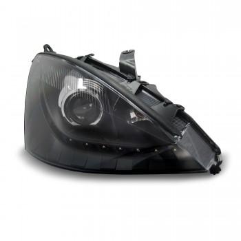 Tagfahrlicht Design Scheinwerfer mit Projektorlinse und LWR passend für Ford Focus Bj. 01-04
