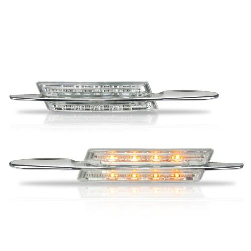 Seitenblinkleuchten in LED-Technik, 2/4 türer, Sport Look, weiss passend für BMW E46 98-01