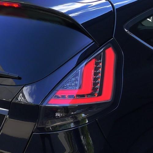 Rückleuchten, Lightbar/ LED, Klarglas/Rauch passend für Ford Fiesta (Typ JA8) ab Bj. 2013