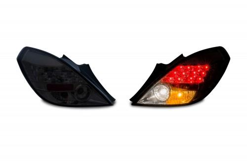 LED Rückleuchten Klarglas schwarz passend für Opel Corsa D ( 3-türer) ab Bj. 2006-