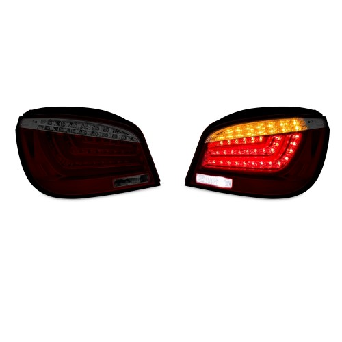 LED Lightbar rear lights im New 5er Design dunkelrot passend für BMW 5er E60 Limo Bj. 03-07
