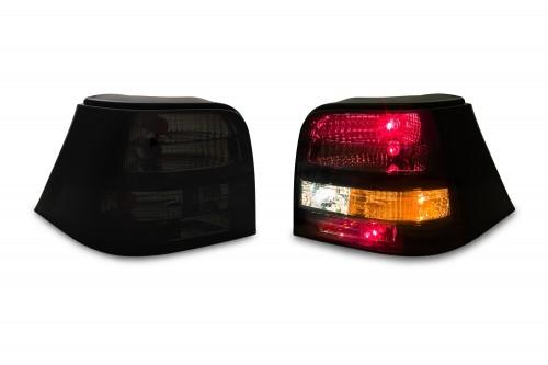 Rückleuchten Satz , Klarglas, Schwarz passend für VW Golf 4 98-03
