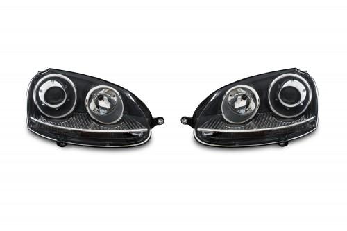 Scheinwerfer in Xenon-Optik schwarz passend für VW Golf 5 1K Bj. 10.03-9.08