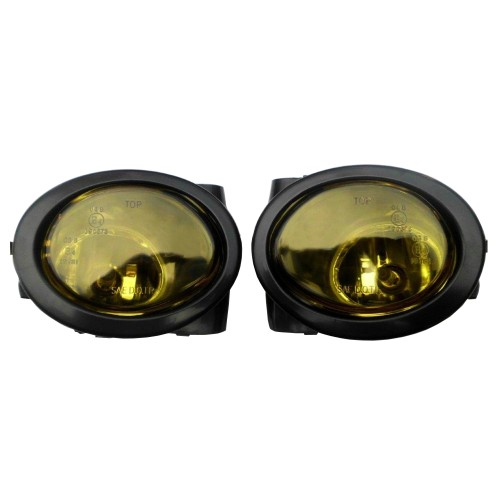Fog lights yellow incl. frame suitable for BMW E46 M3 year 1998- 2007 and E39 M5 year 1998-2005