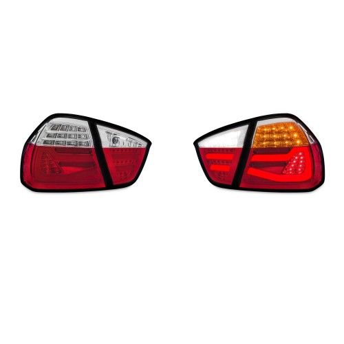 LED Lightbar rear lights clear glass red suitable for BMW E90 sedan, year 2004-2008