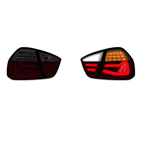 JOM Feu Arrière / Phare Arrière compatible  BMW E90 Limo 04-08, Lightbar Barre LED Lumineuse Dynamique, Rouge Fumé Clignotants à effet Barre - Qualité Allemande