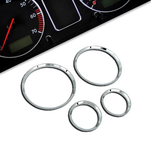 Gauge frames, chrome suitable for Opel Corsa B