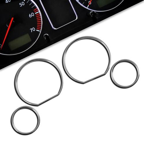 Tachochromringe, 4-teilig passend für BMW E36