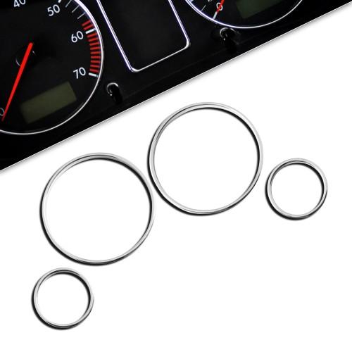 Tachochromringe, 4-teilig passend für BMW E39 und E38