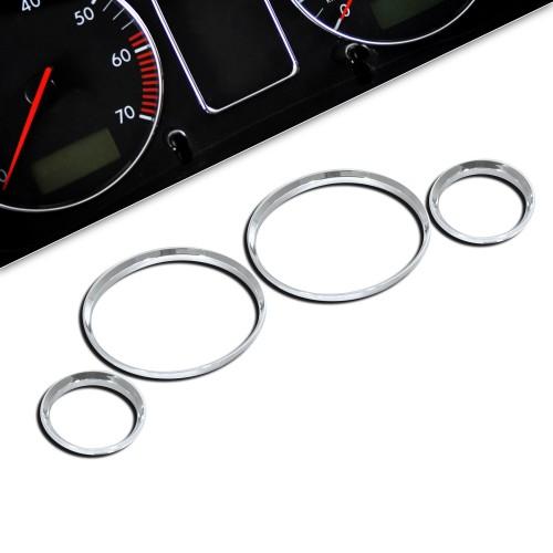 Tachochromringe, 4-teilig passend für BMW E30 M3