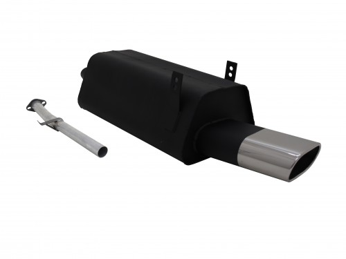 Steel rear muffler with oval tailpipe straight suitable for BMW 3series E36 316i and 318i