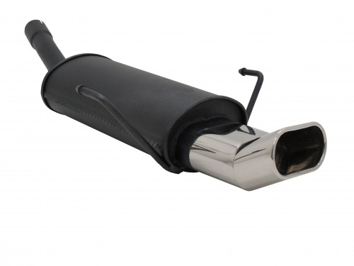 Steel rear muffler with oval tailpipes DTM-Look suitable for Opel Astra H