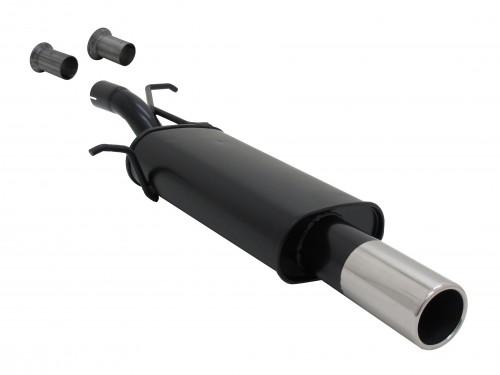 Stahl Endschalldämpfer mit 90mm Endrohr gerade passend für Peugeot 307 und Citroen C4