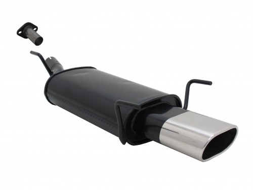 Steel rear muffler with oval tailpipes straight suitable for Opel Astra G CC hatchback
