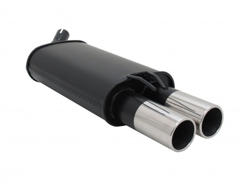 Rear Muffler Renault Twingo 1,2 - not for 16V, 2 x 76 mm round, straight, with ABE