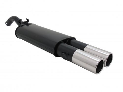 Endschalldämpfer, 2 x 90 mm rund, mit ABE passend für VW Golf II 1,1 / 1,3 / 1,6 / 1,6D / 1,8 nicht für 16V, G60, Syncro