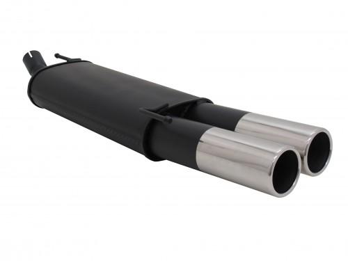 Endschalldämpfer, 2 x 90 mm rund, mit ABE passend für VW Golf III / Cabrio 1,4*/ 1,6*/ 1,6 GT/ 1,8*/ 1,8/ 1,9D*/1,9 TDI/ 2,0 nicht für Syncro, (*S Rohr wird benötigt)