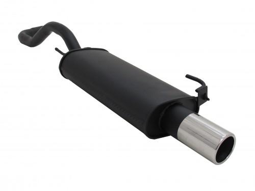Endschalldämpfer, 1 x 90 mm, mit ABE passend für VW Polo IV 1,0 / 1,1 / 1,3 / 1,4 / 1,4-16V/ 1,6/ 1,6 GTI / 1,7D/ 1,9D, 94-
