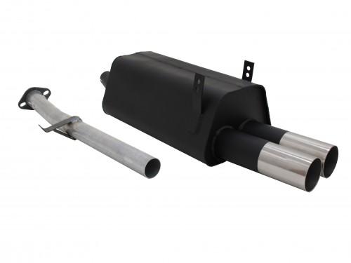 Endschalldämpfer, 2 x 76 mm, RL-Design, mit ABE passend für BMW E36 316i/ 318i,
