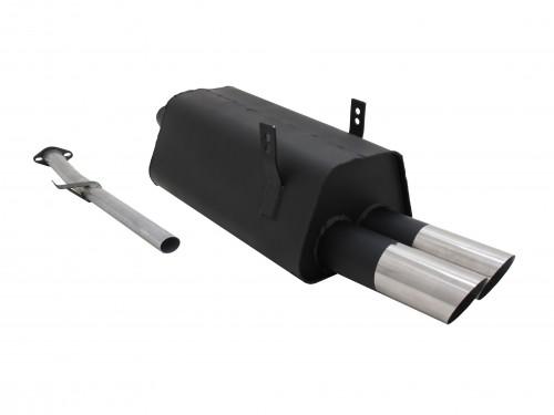 Endschalldämpfer, 2 x 76 mm, MS-Design, mit ABE passend für BMW E36 316i/ 318i, M