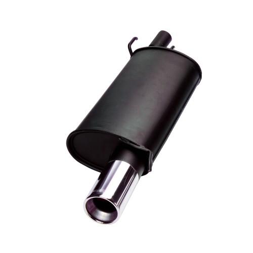 Endschalldämpfer, 1 x 90 mm, mit ABE passend für Fiat Cinquecento 0,7/ 0,9/ 1,1/ 1,1 Sporting