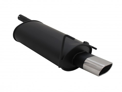 Muffler, Mercedes C class W202 C180/ C200/ C220/ C240/ C200D/ C200K/ C230K, up to 2000, 135 x 75 mm oval, approved (ABE)
