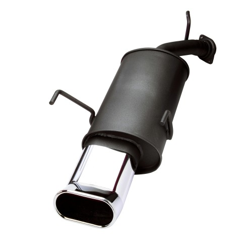 Muffler, VW Beetle 1,4 / 1,6 / 1,8 / 1,8T / 1,9TDI / 2,0 except RSI, 2 x 90 mm OvalTour, approved ABE