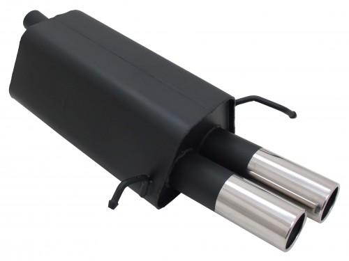 Endschalldämpfer, 2x76mm gerade, mit ABE passend für Mercedes CLK inkl.. Cabrio W209, C200K/ C200CGI/ C240(2.6l)/ C280 (3.0l)/ C320/ C220 CDI/ C270 CDI