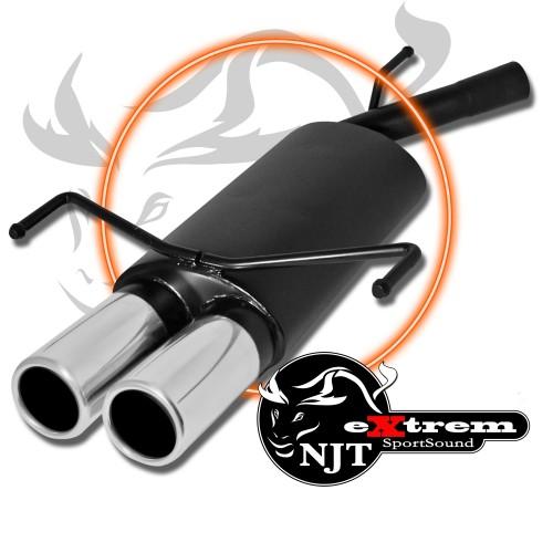 Sportschalldämpfer, eXtrem, TwinRod 2x76, mit EG-Zulassung passend für Opel Corsa C