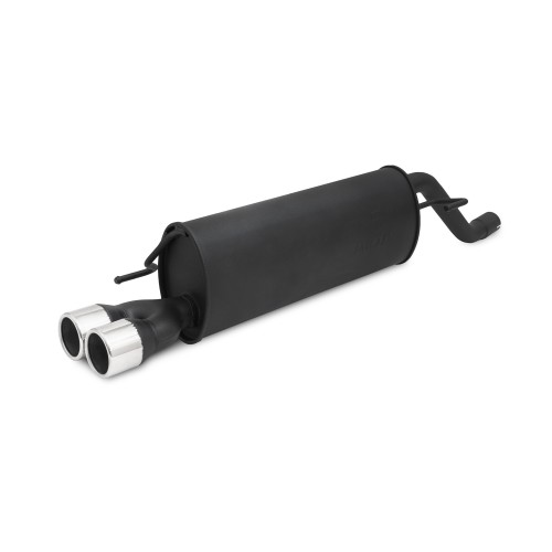 Steel Exhaust box with 2x 76mm tailpipes straight suitable for Opel Corsa E year 2014-