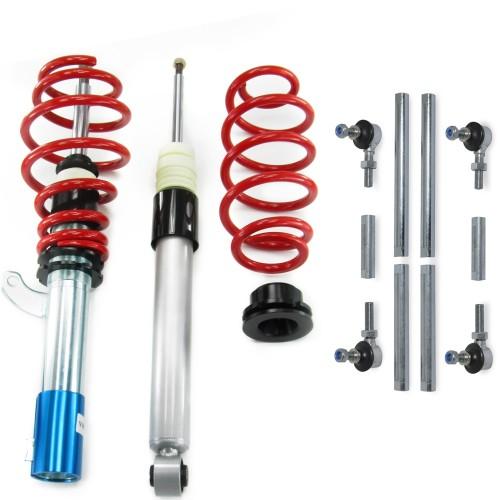 RedLine Gewindefahrwerk mit Koppelstangen passend für VW Golf V 1.4, 1.4 TSi, 1.6, 2.0, 2.0T / DSG, 1.9TDi Baujahr 2003 - 2008, nicht geeignet für Modelle mit Allradantrieb