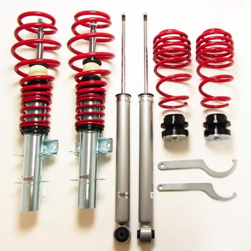RedLine Gewindefahrwerk passend für VW Polo 9N, 9N2, 9N3 und Fox 5Z 1.2, 1.4, 1.6, 1.8T, 1.4 TDi, 1.9SDi, 1.9TDi, Baujahr 04.2002-2009