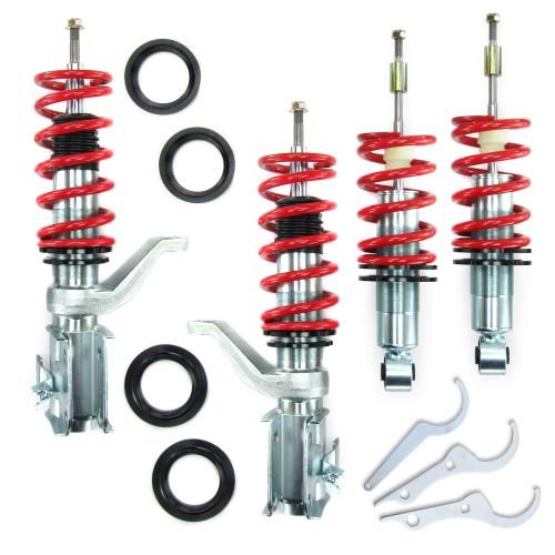 RedLine Gewindefahrwerk passend für Honda Civic und CRX alle Modelle Typen EM1, EP1, EP2, EP3, EP4, Ev1 ab Baujahr 2000-
