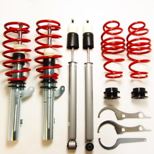 RedLine Gewindefahrwerk passend für VW Golf 7 AU 1.2 TSI, 1.4 TGI, 1.4 TSI, 1.6 TDi ab Baujahr 2012-, nur passend bei Fahrzeugen mit Verbundlenker