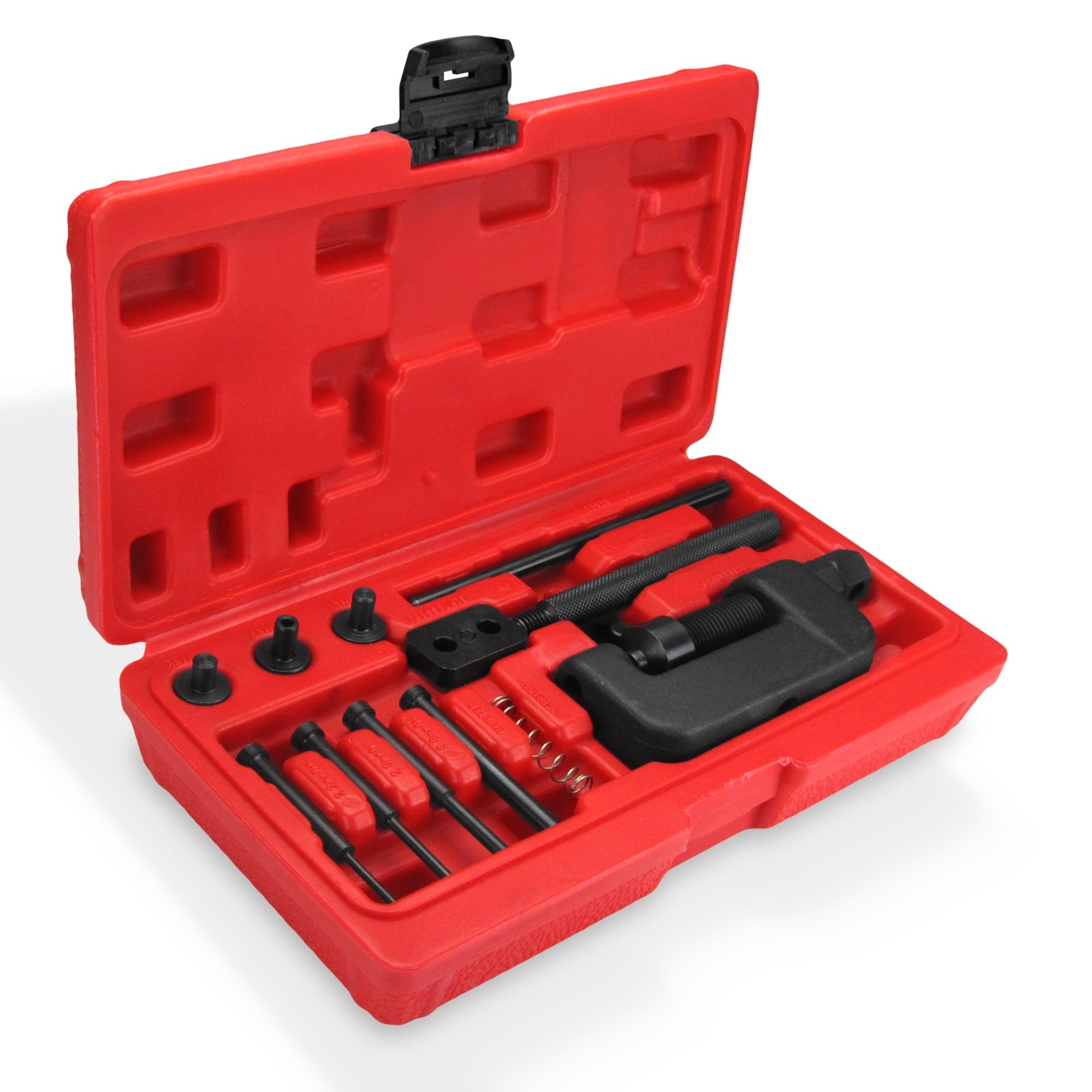 13PCS Chain Cutter Rivet Tool Set Riveting Breaker ATV//Bike//Motorcycle//Cam Drive
