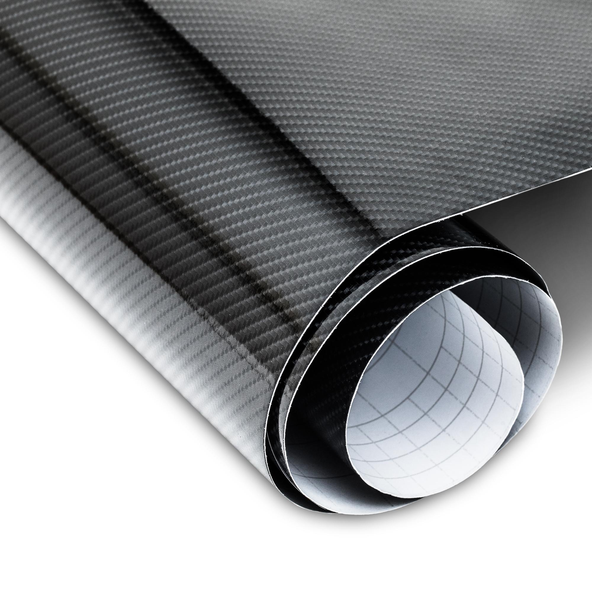 carbon folie schwarz 152x200cm 5d struktur f r innen und. Black Bedroom Furniture Sets. Home Design Ideas