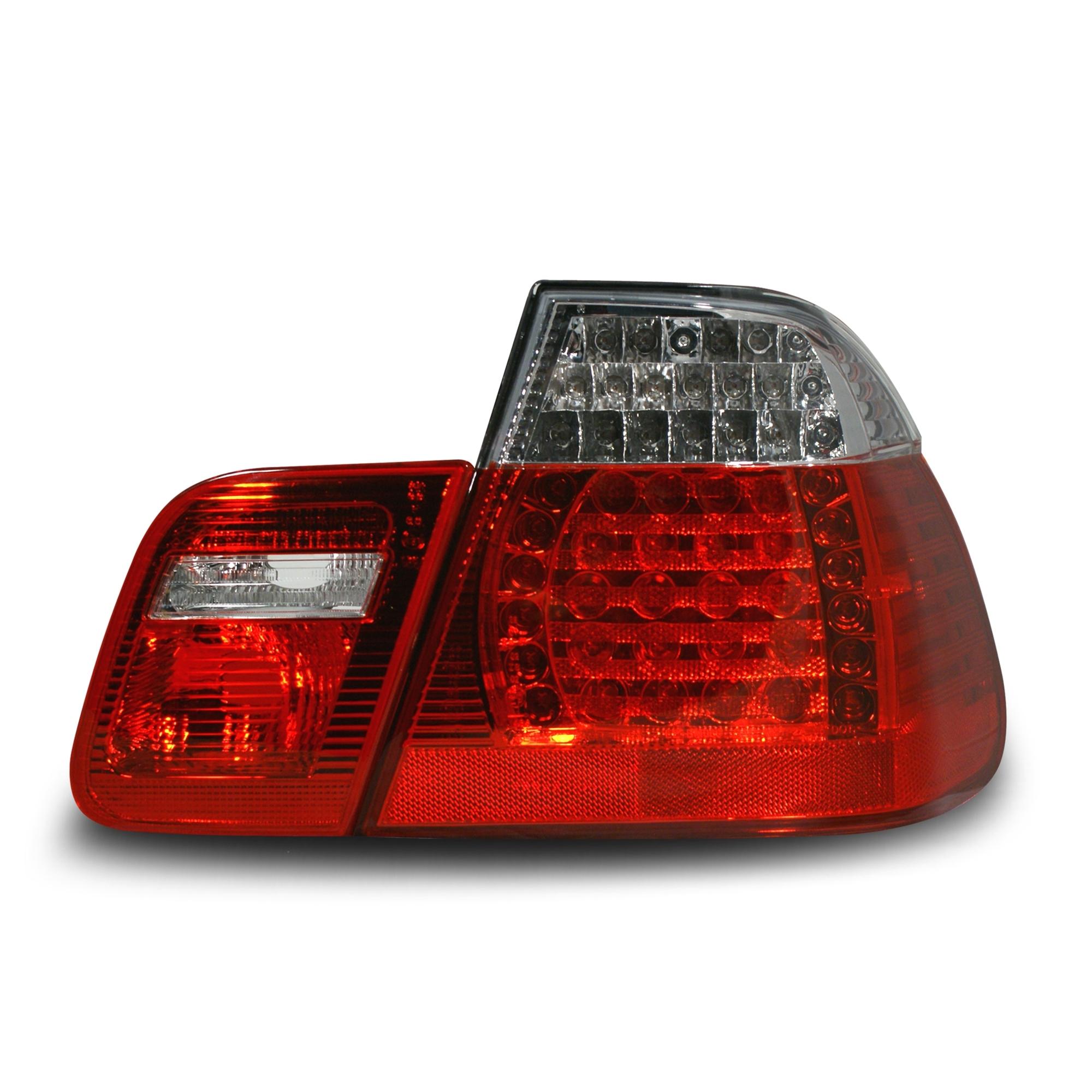 feux arri re led bmw e46 4 verre lisse rouge clair 4 pi ces. Black Bedroom Furniture Sets. Home Design Ideas