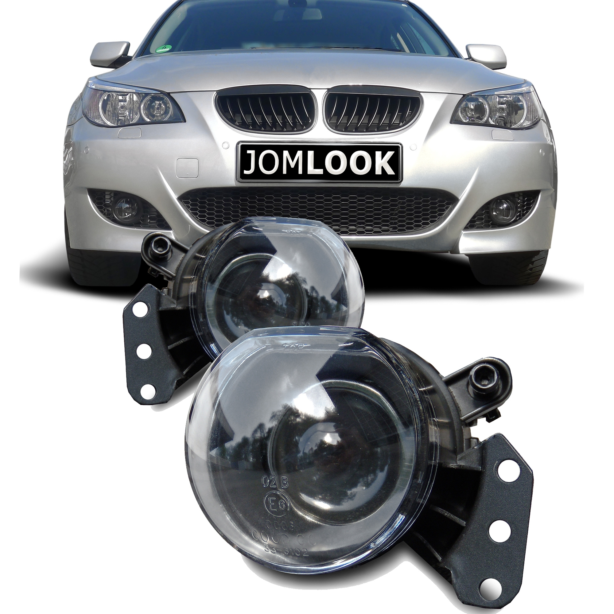 Fog Lights Clear With Projector Lens Suitable For Bmw E60 Limousine And E61 Touring Year 2003 2007